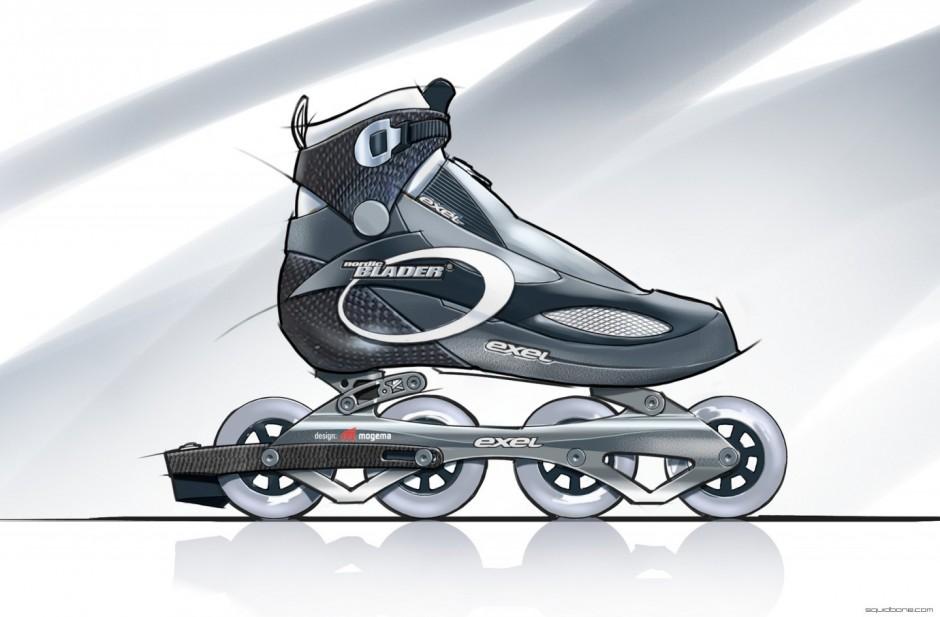 In Line Design : Squidbone°inline skate design concept squidbone°